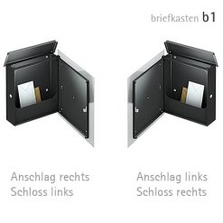 Briefkasten - Ansicht geöffnet - Anschlag links oder rechts