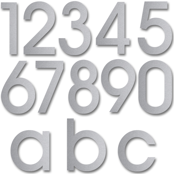 Hausnummern aus Edelstahl