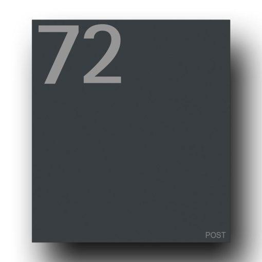 Briefkasten Edelstahl B1 7016 Anthrazit Hausnummer Post
