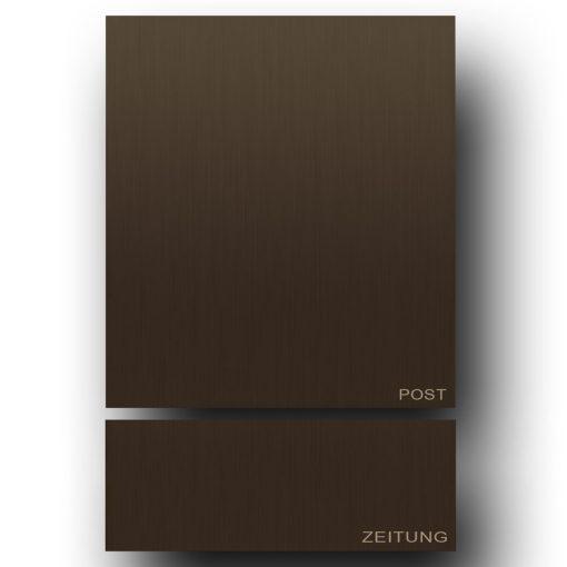 Briefkasten Edelstahl B1 Antik Messing Baubronze Zeitungsfach Zeitung Post