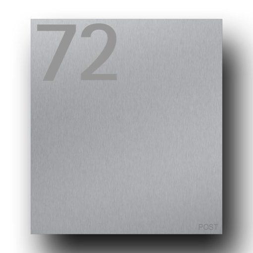 Briefkasten Edelstahl B1 Number Hausnummer Post
