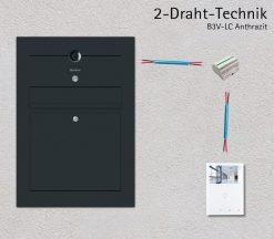 Briefkasten Edelstahl Video Kamera Anthrazit Unterputz Beschriftung 2-Draht-Leitung