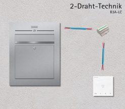 Türsprechanlage Briefkasten Audio 2-Draht Technik