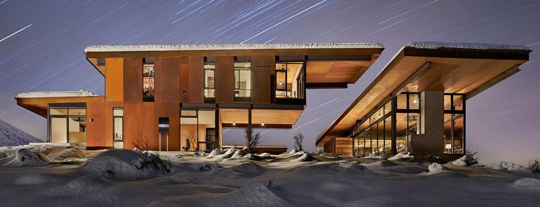 Briefkastenanlage Anthrazit modern Haus