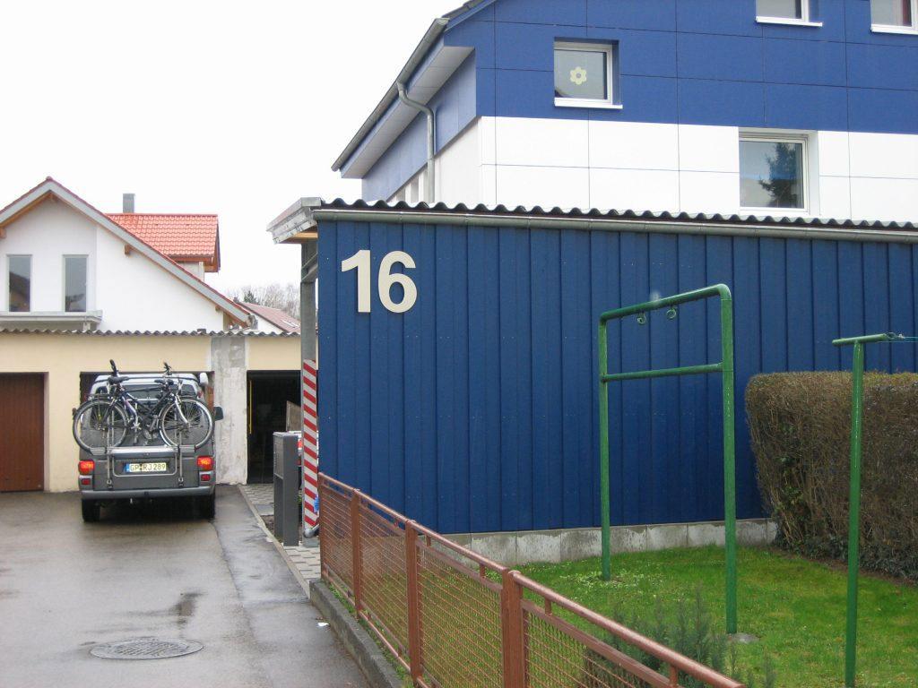 Hausnummer Edelstahl