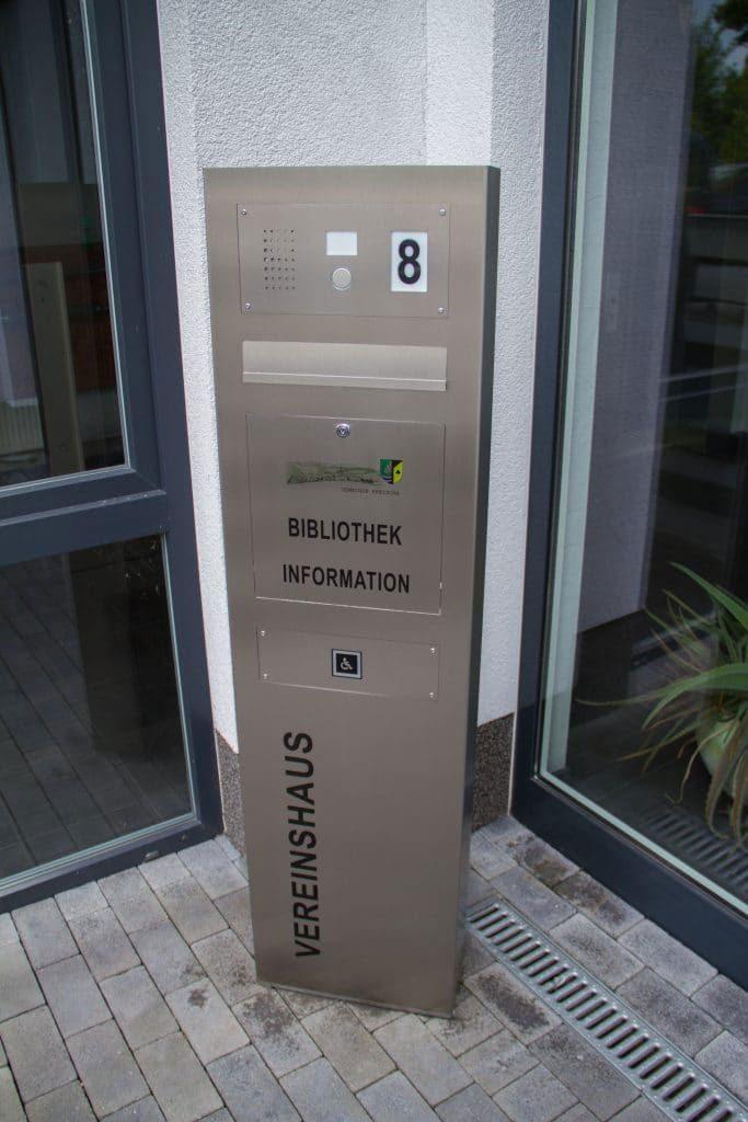 Briefkasten Edelstahl Säule Audio Hausnummer Klingelanlage Beschriftung