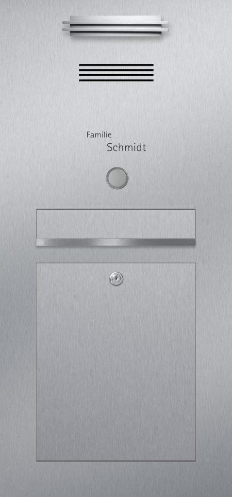 Türsprechanlage Edelstahl Konfigurator Beschriftung Klingel LED