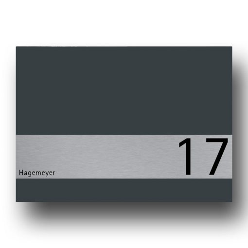 Briefkasten Edelstahl Anthrazit Zeitungsfach Wandmontage Beschriftung