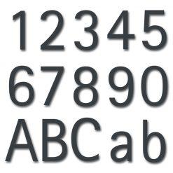 Hausnummer Edelstahl Anthrazit RAL7016