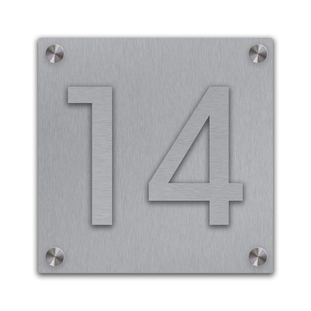 Edelstahl Hausnummer aufgesetzt Abstandhalter