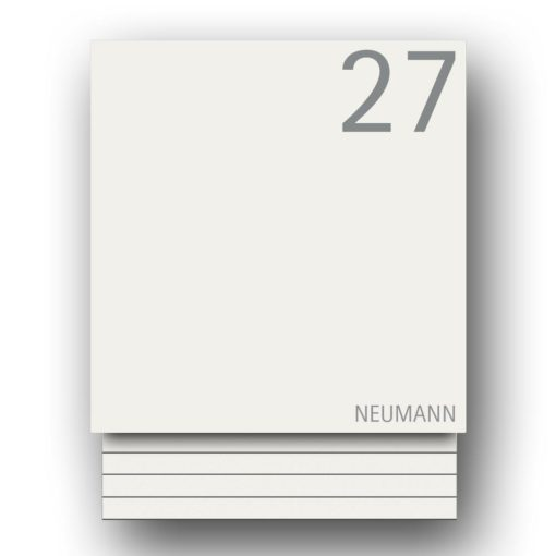 Briefkasten Edelstahl Zeitungsfach Pulverbeschichtet Weiss RAL9016 Wandbefestigung Beschriftung Hausnummer